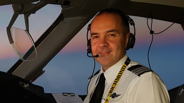 Brett Manders, a former naval officer turned commercial pilot for Jetstar.