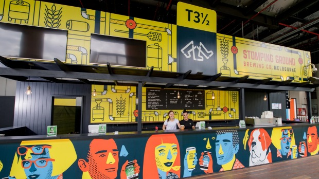 The Terminal 3½ beer garden has re-opened at Melbourne Airport for summer.