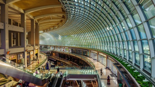 The shops at Marina Bay Sands.