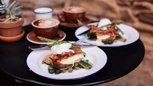 Coffee and breakfast available from Alby + Esthers, Mudgee.