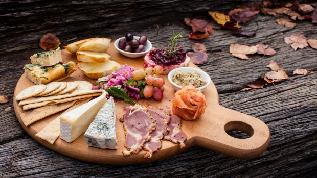 Cheese board from High Valley Mudgee Cheese Co.