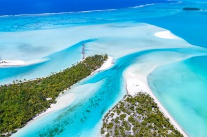 Aitutaki lagoon is one of the Pacific's most beautiful.