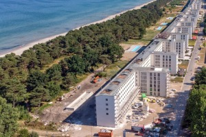 Prora, built on the island of Rugen between 1936 and 1939, consists of several identical connected six-storey buildings. ...