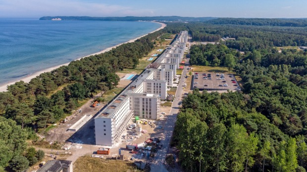 World's longest building: Prora on the island of Rugen in Germany is a former Nazi resort