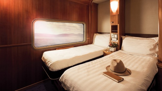 A Platinum Service Twin Cabin on board the Great Southern.