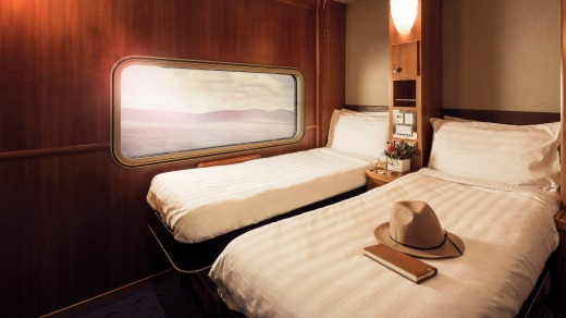 A cabin on board the Great Southern.