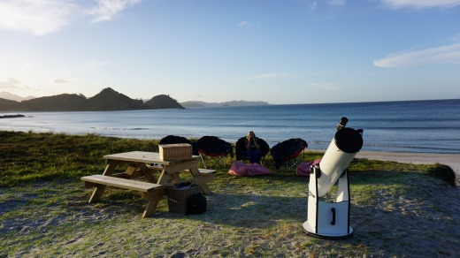 Preparing for a night's stargazing on Great Barrier Island, one of only a handful of places in the world with Dark Sky ...