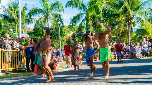 Part of the Heiva competition is the battle to be Mr Tahiti.