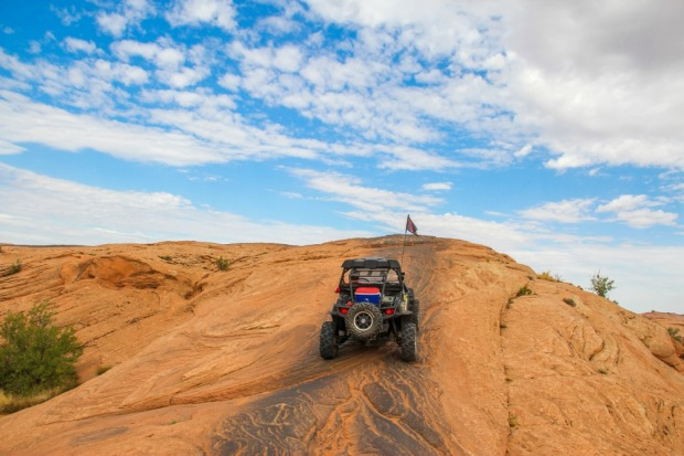 This recreational area of petrified sand dunes is also popular with mountain bikers and ATVs, but the loudest screams ...