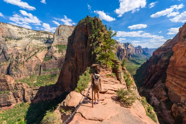 """Hike"" may be a stretch – it's more a scramble at times, clinging to chains bolted into the cliff, your only protection ..."