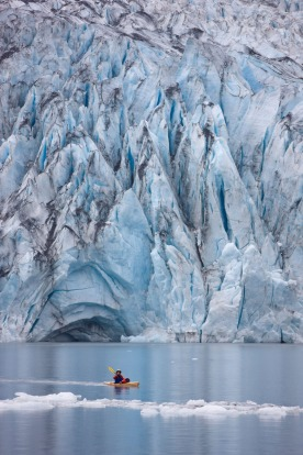 Kayak Glacier Bay, Alaska: Paddle into a fantasy world where icebergs bob and glaciers glisten in this 1.3 million ...