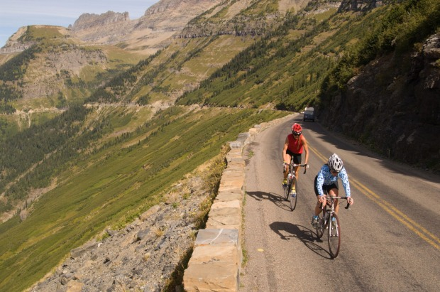 Cycle Going-to-the-Sun Road, Glacier NP, Montana: During Spring, Glacier National Park's Going-to-the-Sun Road is closed ...