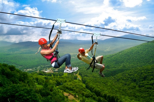 Ride America's highest zipline, Catskills, NY: The Zipline New York canopy tours are the highest, longest and fastest in ...