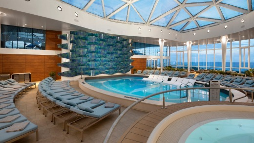 Solarium on Celebrity Edge.