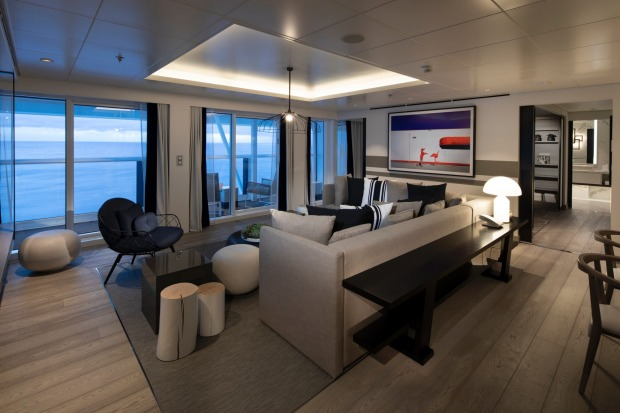 The ship's Penthouse Suite.