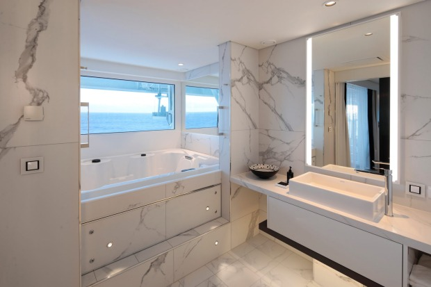 The Penthouse Suite Bathroom.