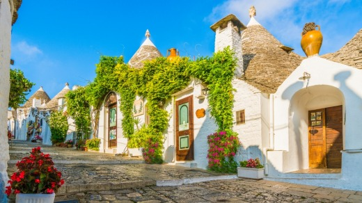 Alberobello is visited by around two million tourists a year.