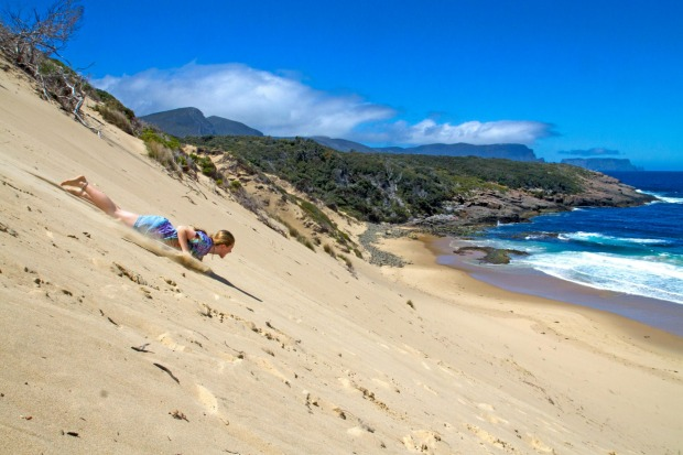 Crescent Bay: It takes work to enjoy Crescent Bay - it's about a 90-minute walk in from near Port Arthur - but the ...