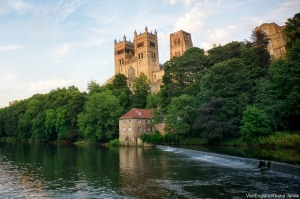 Durham's awe-inspiring Norman cathedral looms large above the River Wear.