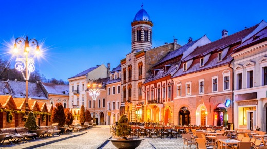 Brasov. The now elegantly renovated old town is delightful, with yellow and pink buildings that span the medieval and ...