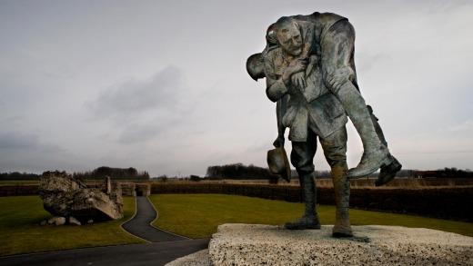 The Australian Memorial Park at Fromelles, Northern France, where the Australian forces lost many men in July 1916 ...