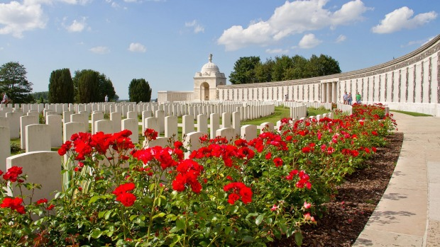Tyne Cot, resting place of 11,900 servicemen of the British Empire from the First World War, is the largest Commonwealth ...