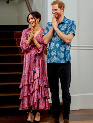 Prince Harry and Meghan Markle during their stay at the Grand Pacific Hotel.