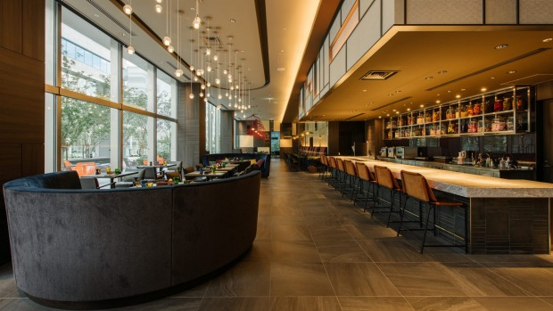 One of the dining zones at Pullman Tokyo.