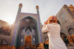 Iran, it's a destination place that'll surprise many travellers: Shah Mosque in Esfahan.