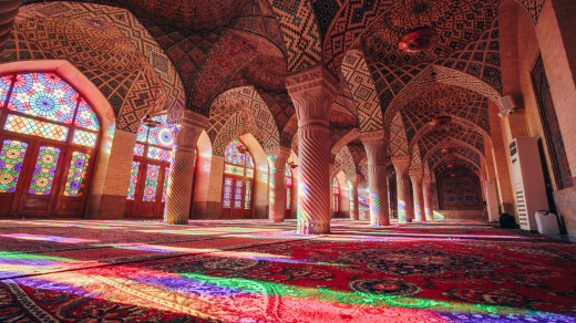 Nasir-ol-Molk, the Pink Mosque of Shiraz.