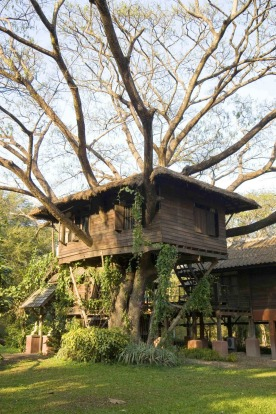 DOI KHAM RESORT, THAILAND: Designed to resemble the traditional rice barns of the local Lanna people, this teak tree ...