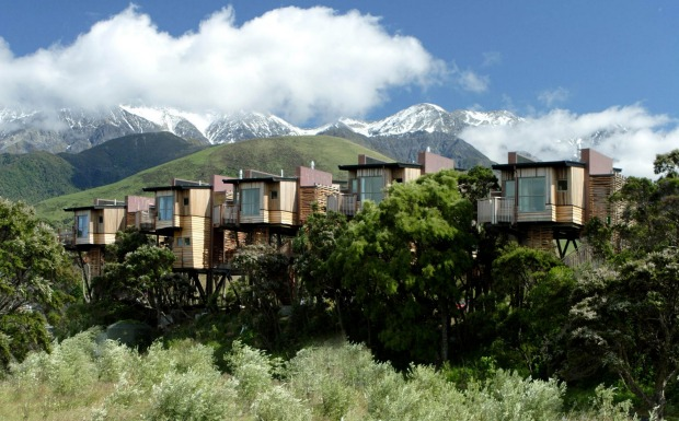 HAPUKU LODGE, NEW ZEALAND: This alpine holiday resort at Kaikoura features five solar-powered tree houses that have ...