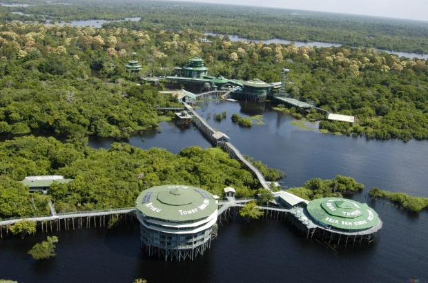 ARIAU AMAZON TOWERS, BRAZIL: This 1980s resort in Negro River National Park outside Manaus in the Brazilian Amazon was ...