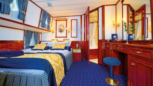 Cabins on board are compact.