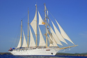 Star Clipper under full sail.