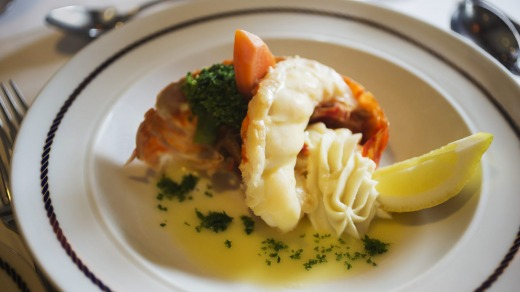 Lobster dish from the Star Clipper restaurant.