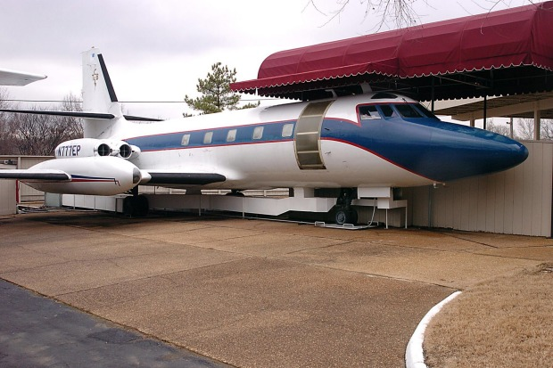 The Lisa Marie is one of two of his private jets on the property, the other a smaller Lockheed Jet Star.