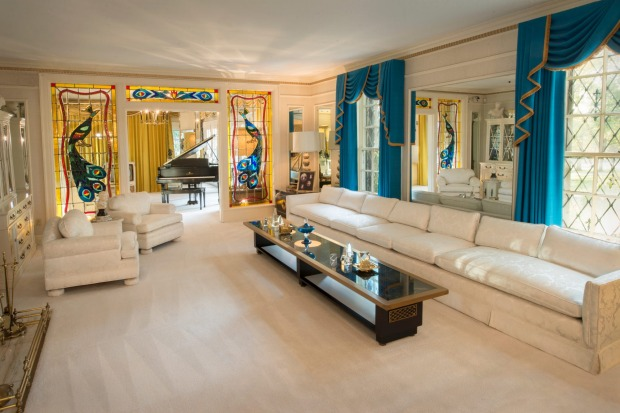 The living room at Graceland.