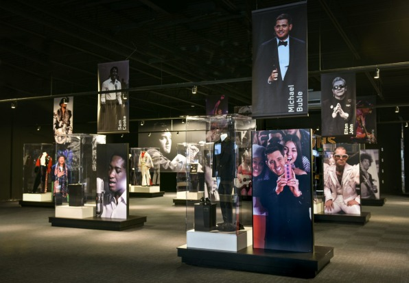 There's also a collection of outfits and other memorabilia provided by artists influenced by Elvis.