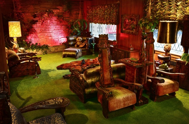 The mansion's famous 'Jungle Room'.