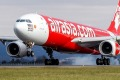 AirAsia X's first flight to Avalon Airport touches down on Wednesday morning.