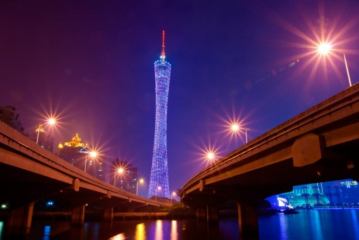 CANTON TOWER: The 604-metre Canton Tower soars in a spectacular design of two twisting ellipses with a narrow waist, ...