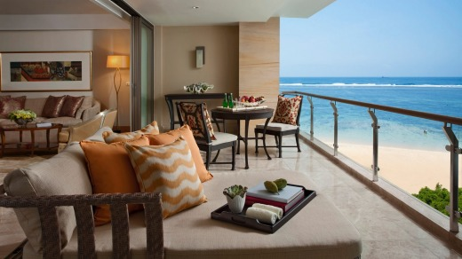 A pleasant spot for a rest at the Mulia Bali.