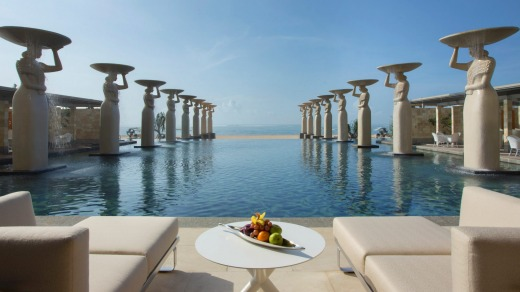 The Mulia Mulia Bali swimming pool is attended by 16 five-metre female figures.