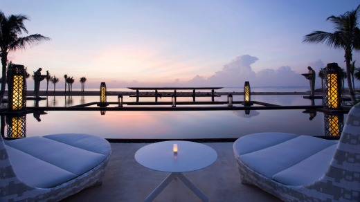 Sunset over Mulia, Bali.