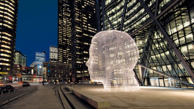 Wonderland, 2008–12 by Jaume Plensa in Calagary, Canada.