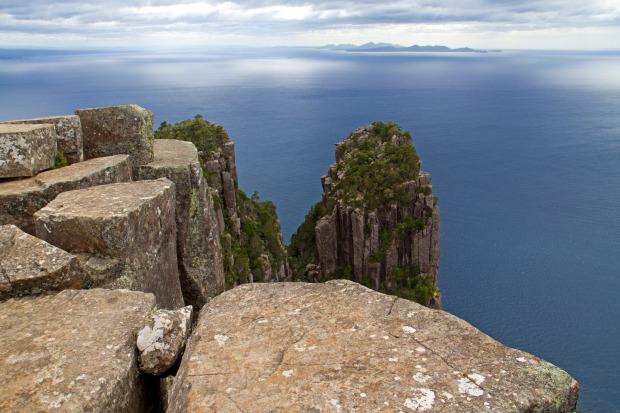 BISHOP & CLERK: Rising tall from the northern edge of Maria Island are the 599-metre-high rock towers known as Bishop ...