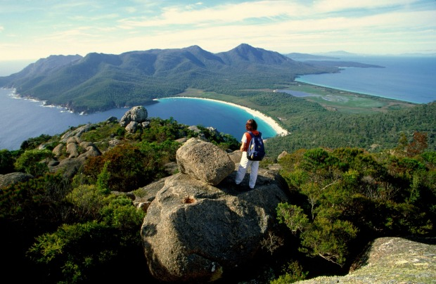 MT AMOS: Mt Amos isn't high - just 454 metres above sea level - but the scene from its summit well and truly defies the ...