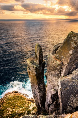 CAPE RAOUL: In a sense, Cape Raoul is the Tasman Peninsula's forgotten cape. Intended as the third cape on the Three ...