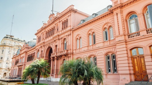 Casa Rosada (Pink House), presidential Palace in Buenos Aires.